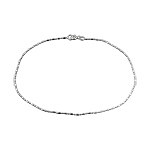 Sterling Silver 1mm Ball and Bar Chain Anklet