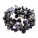 Black Mother of Pearl and Beads Medley Bracelet