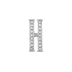 "Sterling Silver Pave CZ ""H"" Pendant"