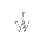 "Sterling Silver ""W"" Pendant"