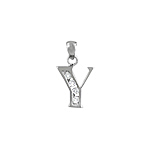 "Sterling Silver ""Y"" Pendant"
