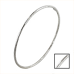 Sterling Silver 2mm Multifaceted Bangle