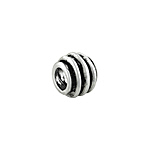 Sterling Silver Spool Bead