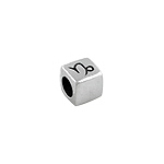 Sterling Silver Capricorn-The Sea Goat Square Bead