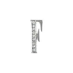 "Sterling Silver Pave CZ ""F"" Pendant"