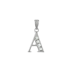 "Sterling Silver ""A"" Pendant"