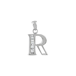 "Sterling Silver ""R"" Pendant"