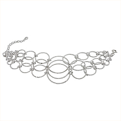 Sterling Silver Connected Rings Bracelet