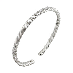 Sterling Silver 4mm Rope Cuff