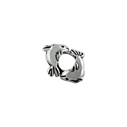 Sterling Silver Two Fish Bead