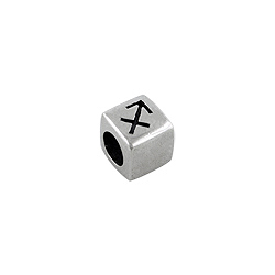 Sterling Silver Sagittarius-The Archer Square Bead